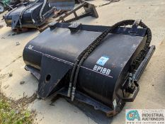 """76"""" WIDE CAT MODEL BP18B HYDRAULIC SWEEPER ATTACHMENT; S/N DBP00246, PICK-UP BROOM TYPE (220"""
