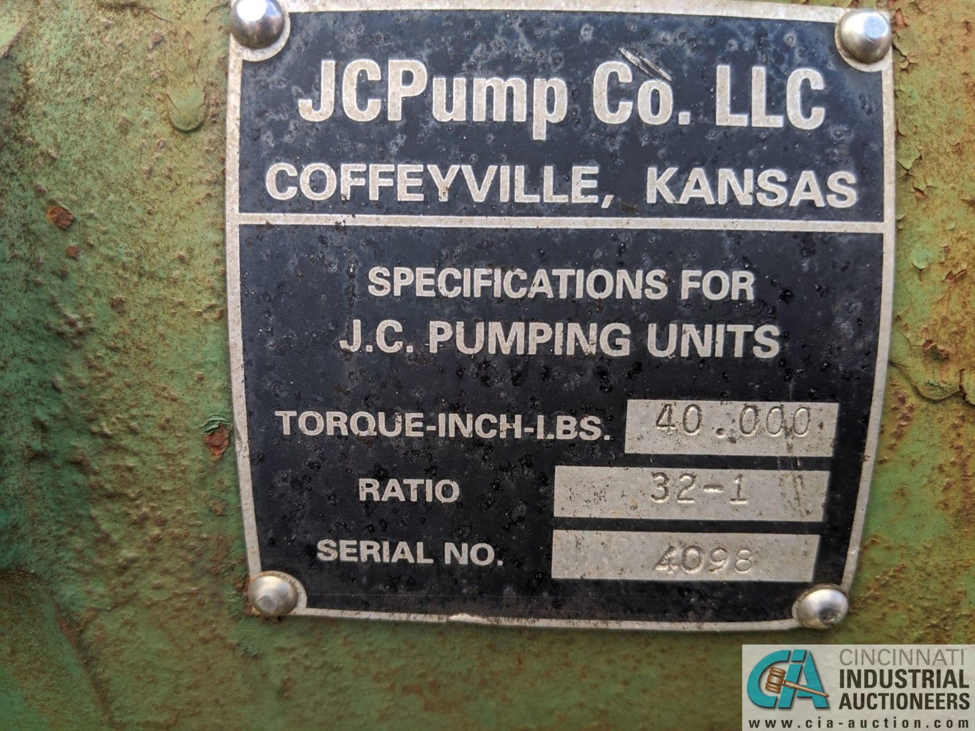 JC PUMP INC. PUMP JACK (8635 East Ave., Mentor, OH 44060 - John Magnasum: 440-667-9414) - Image 4 of 5
