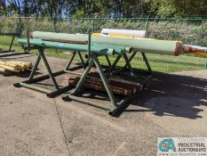 (LOT) ASSORTED PIPE ON (2) 12' PYRAMID TYPE PIPE RACKS **38700 Pelton Rd., Willoughby, OH 44094 -