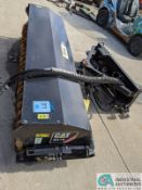 "84"" WIDE CAT BA18 HYDRAULIC SWEEPER ATTACHMENT; S/N AZN02133 (220 Blackbrook Rd., Painsville, OH"