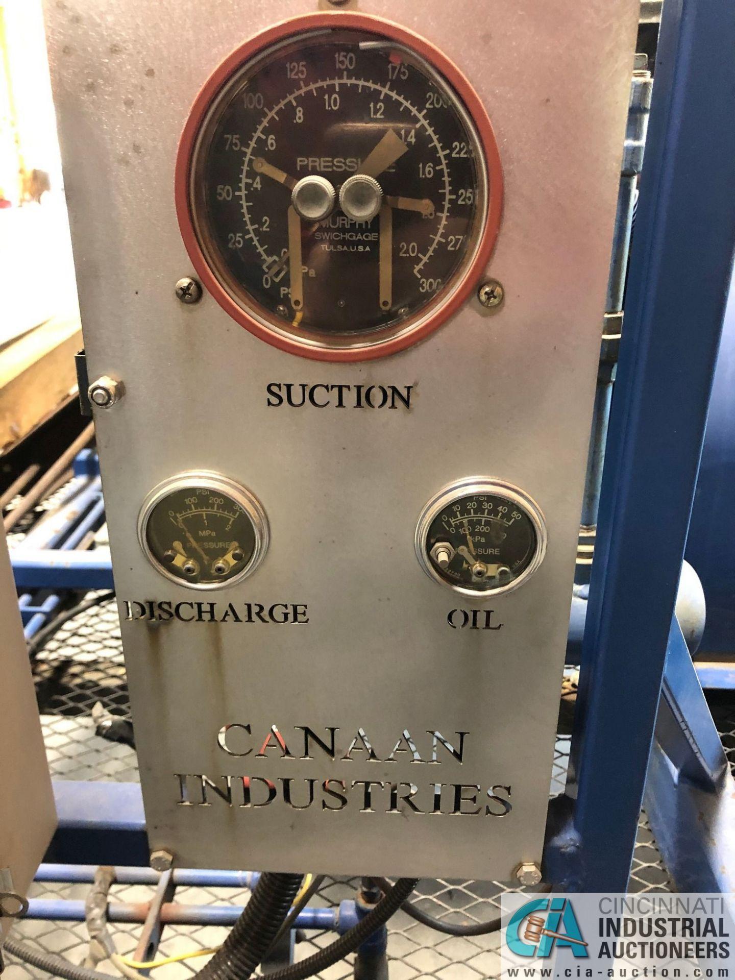 CANAN NATURAL GAS POWERED SKID MOUNTED NATURAL GAS COMPRESSOR; 27-HP KAWASAKI ENGINE, NO TRAILER ( - Image 2 of 3