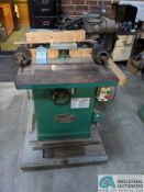 "3-HP GRIZZLY MODEL G1026 SHAPER; S/N 457953, 3"" SPINDLE TRAVEL (8635 East Ave., Mentor, OH 44060 -"
