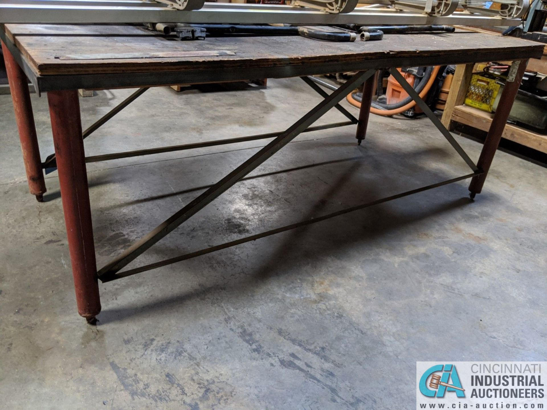 "48"" X 96"" STEEL FRAME TABLE (8635 East Ave., Mentor, OH 44060 - John Magnasum: 440-667-9414) - Image 2 of 2"
