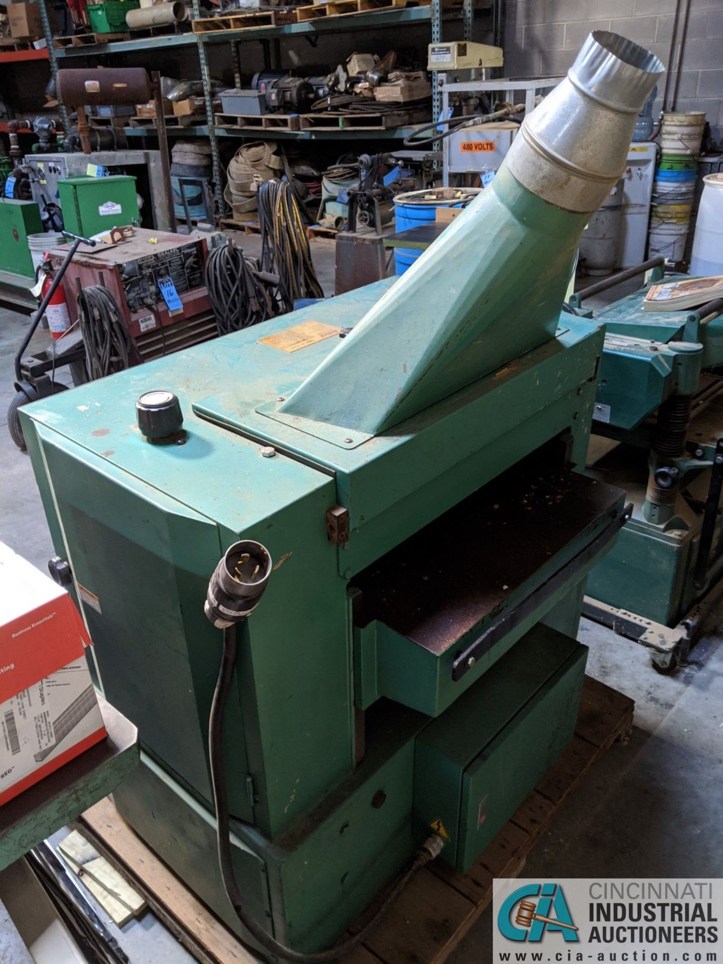 """24"""" GRIZZLY MODEL 24"""" EXTREME DUTY PLANER; SPIRAL CUTTER HEAD, 10-HP CUTTER HEAD, 20 - 40 FPM ( - Image 3 of 7"""