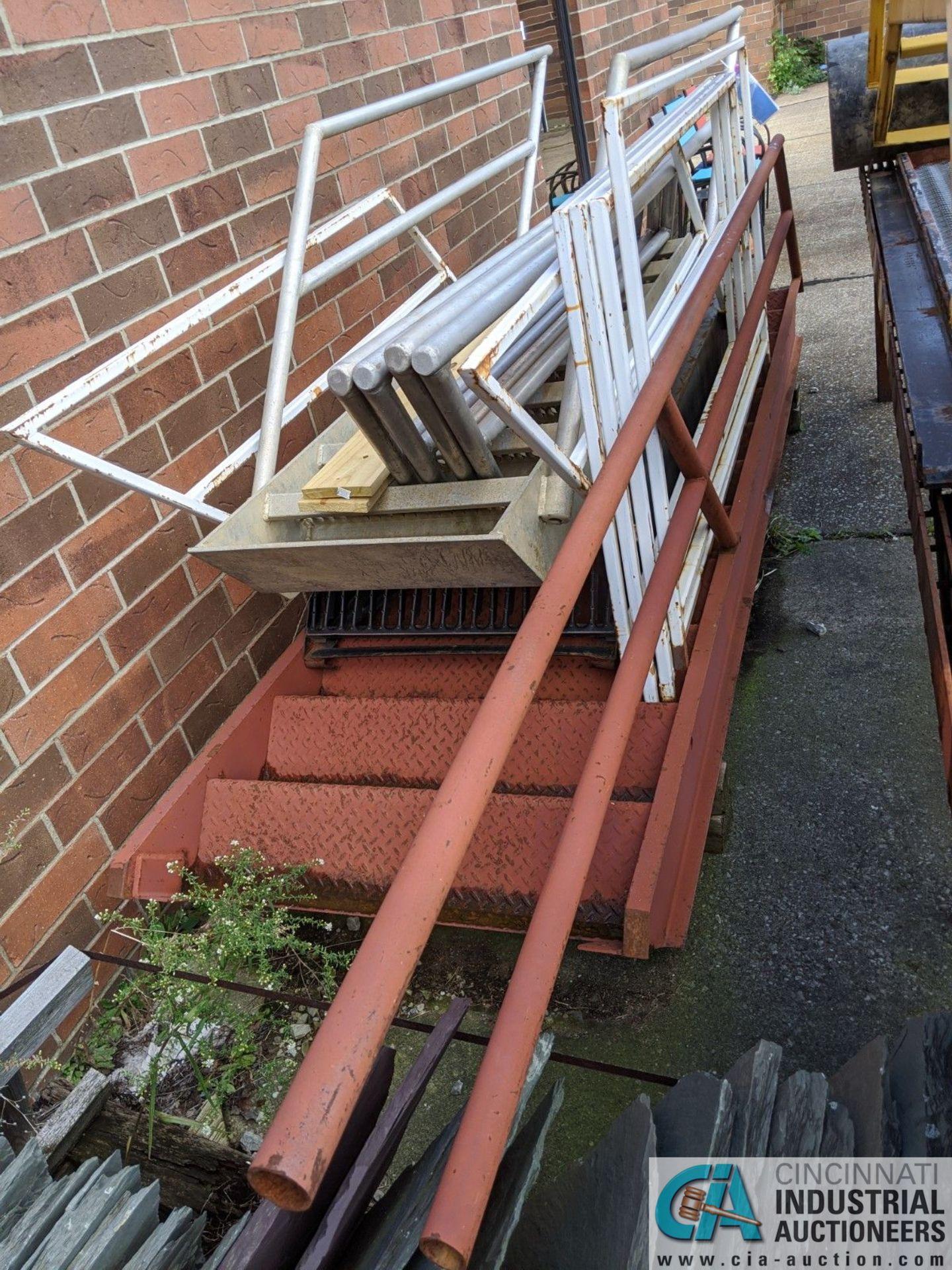 (LOT) ALUMINUM STEEL FRAME STEPS & STEEL TABLE (8635 East Ave., Mentor, OH 44060 - John Magnasum: - Image 2 of 3