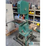 "16"" GRIZZLY MODEL G1073 VERTICAL BAND SAW; S/N 055901, 17"" X 17"" TABLE, 2-HP, SINGLE PHASE (8635"
