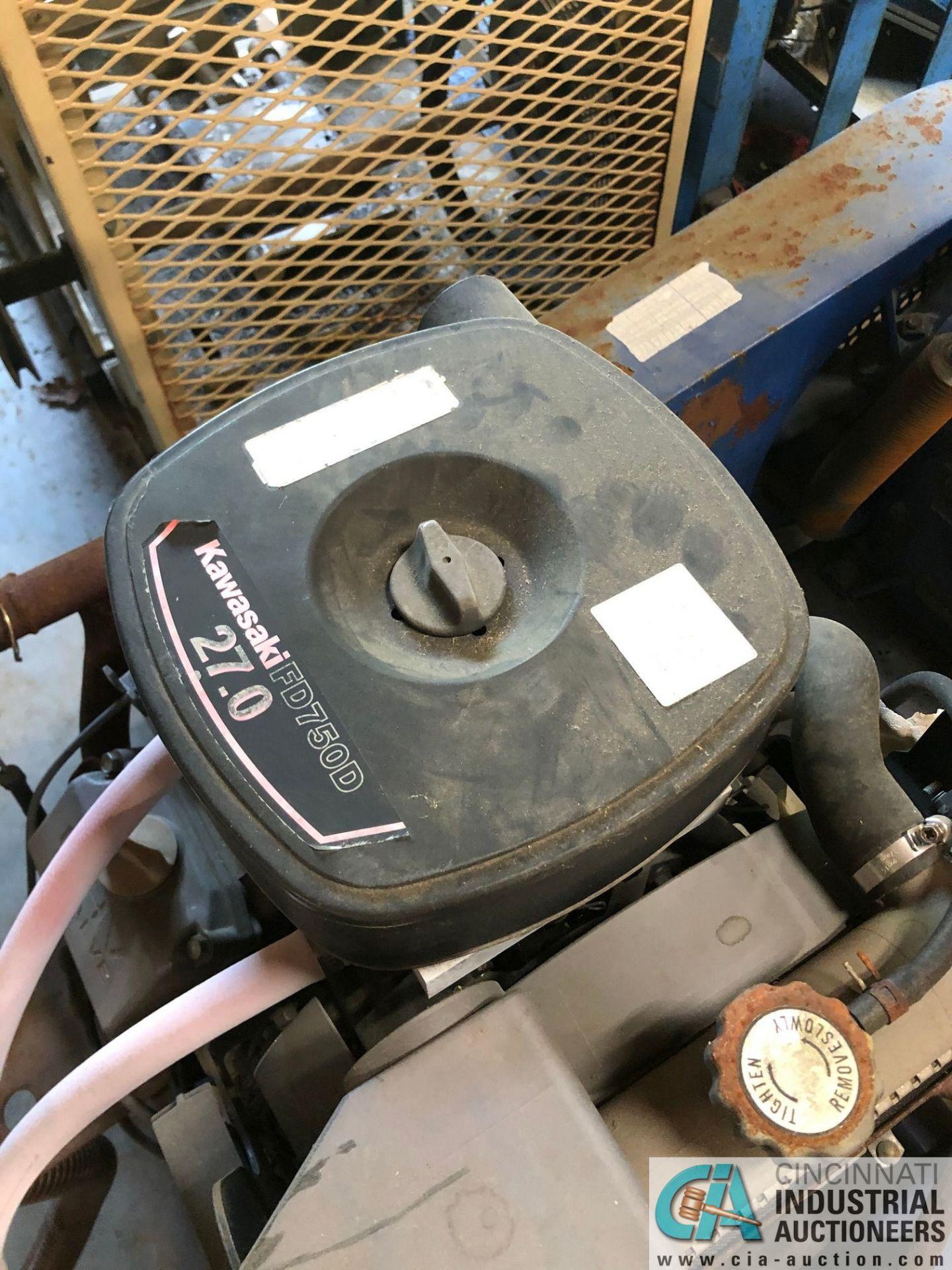 CANAN NATURAL GAS POWERED SKID MOUNTED NATURAL GAS COMPRESSOR; 27-HP KAWASAKI ENGINE, NO TRAILER ( - Image 3 of 3