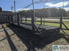 10' WIDE X 36' LONG TRUCK BED CONVERTED TO A BRIDGE; STEEL GRATE TOP, SIDE RAILS (220 Blackbrook