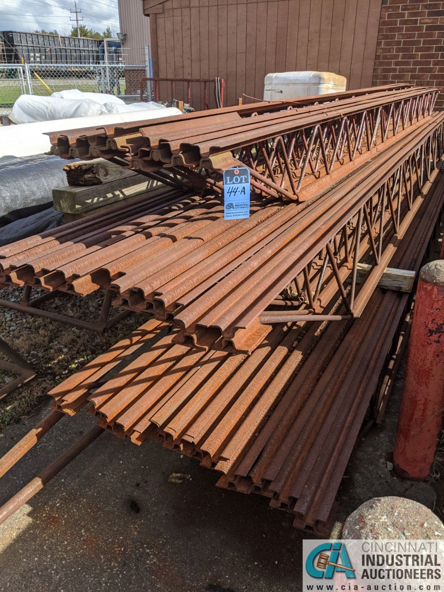 """STEEL TRUSSES; (8) 12"""" X 20', (10) 18"""" X 23' & (12) 18"""" X 22' (8635 East Ave., Mentor, OH 44060 -"""