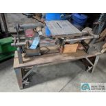 """15"""" SHOP SMITH BELT TYPE WOODWORKING LATHE; S/N E546548, MOUNTED ON PORTABLE BASE (8635 East Ave.,"""
