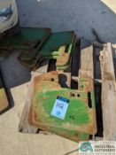 JOHNE DEERE SUITCASE WEIGHTS (220 Blackbrook Rd., Painsville, OH 44077 - Greg Papis: 440-537-5127)