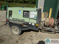 SULLAIR MODEL 185DPQ-JD PORTABLE AIR COMPRESSOR; S/N 200905290010, 254 HOURS SHOWING (220 Blackbrook