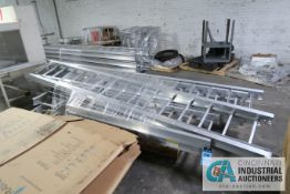 """(LOT) 18"""" WIDE CHALFANT ALUMINUM CABLE SUPPORT TRAYS (NEW - NEVER USED)"""