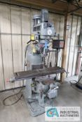 3 HP MILLPORT MODEL 3VH VERTICAL MILLING MACHINE; S/N 85303 WITH MINI WIZARD DRO, 60-4,250 SPINDLE
