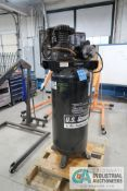 5 HP US GENERAL MODEL US56OV VERTICAL TANK AIR COMPRESSOR; S/N HOP142971, 208/230 VOLT, SINGLE