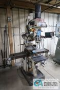 3 HP BIRMINGHAM MODEL BPV-39490 VERTICAL MILLING MACHINE; S/N 073718, WITH ANILAM DRO, 60-4,200