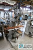 1-1/2 HP BRIDGEPORT VERTICAL MILLING MACHINE; S/N 212404, WITH MITUTOYO DRO, 60-4,200 SPINDLE
