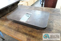 "11-1/2"" X 20"" X 2-1/2"" HIGH CAST IRON SURFACE PLATE"