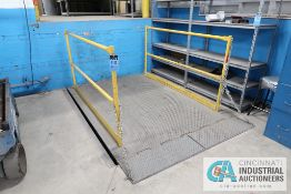 """**8,000 LB. CAPACITY COPPERLOY / JH INDUSTRIES MODEL KD-80-60, 72"""" 96"""" FLOOR MOUNTED HYDRAULIC"""