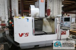 "HAAS MODEL VF5/50 CNC VERTICAL MACHINING CENTER; S/N 25662, 23"" X 50"" TABLE, 50 TAPER SPINDLE, 30-"