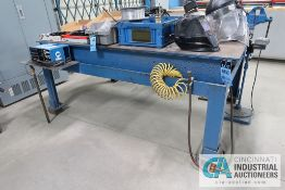 "47"" X 78"" X 33-1/2"" HIGH 1/2"" THICK STEEL TOP PLATE SUPER DUTY STEEL WELDING TABLE, 3-1/2"" BENCH"