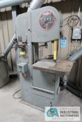 "16"" DOALL MODEL 1612-0 VERTICAL BAND SAW; S/N 277-70870, WITH BLADE WELDER, 220 VOLTS, 3-PHASE, 126'"