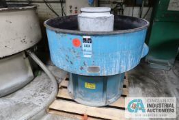 """44"""" (APPROX.) SWECO MODEL DM-10 VIBRATORY FINISHING BOWL; S/N 100M-1174, WITH CONTROL CABINET AND"""