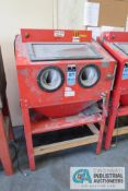CENTRAL PNEUMATIC NO. 93608 GLASS BEAD BLASTER CABINET, ASSET # 400098 **LOADING FEE DUE THE ""