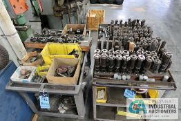 (LOT) MISCELLANEOUS SCREW MACHINE COLLETS AND TOOL HOLDERS