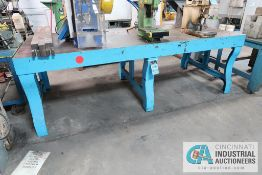 "**47-1/2"" X 107"" X 35"" HIGH SUPER DUTY CAST IRON MACHINE TABLE **DELAYED REMOVAL - PICKUP 11-12-"