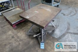 """CAPACITY UNKNOWN 24"""" X 30"""" MANUAL HYDRAULIC LIFT TABLE"""