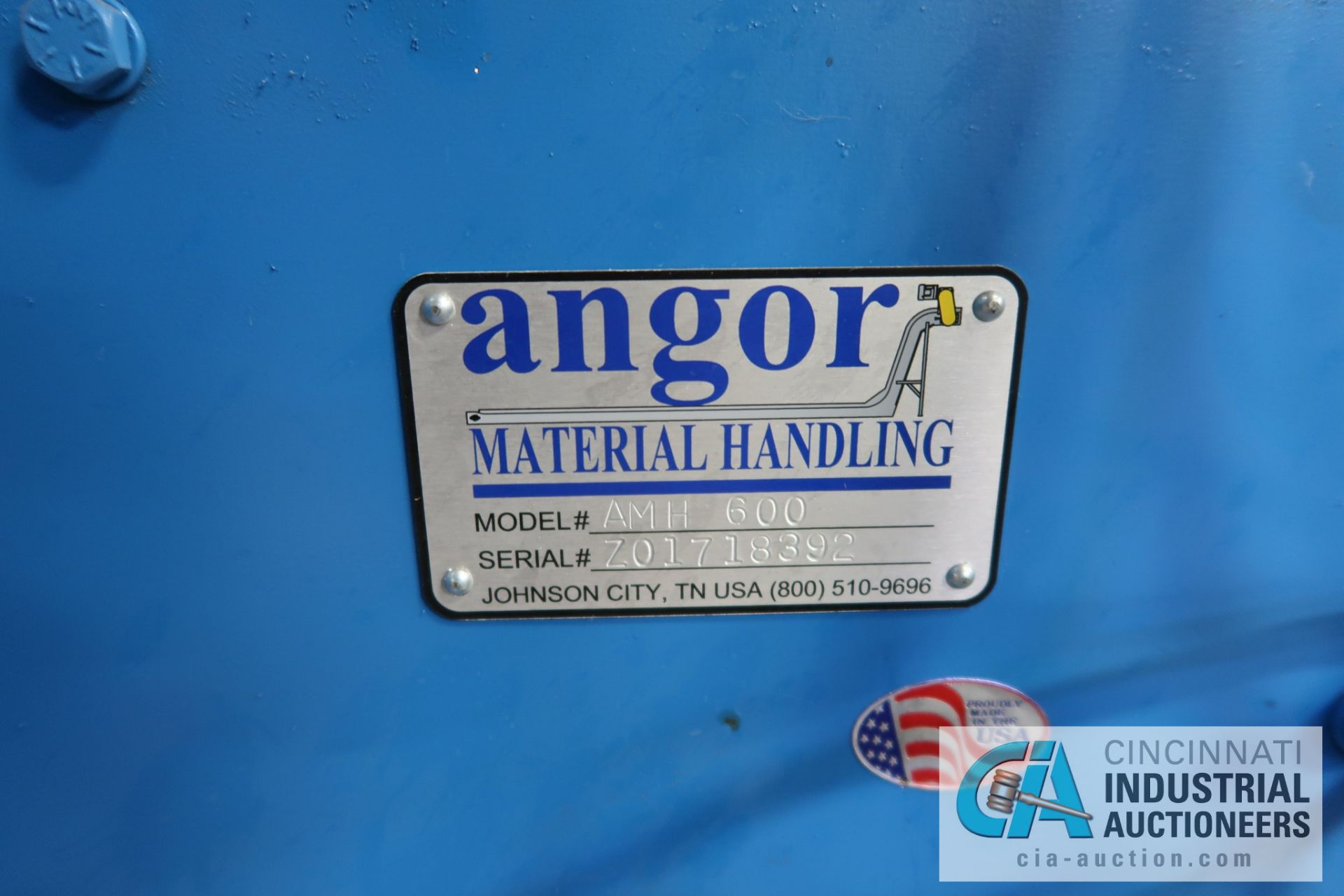 """10"""" X 78"""" ANGOR MODEL AMH600 SERIES BUCKET LOADER; S/N Z01718392, WITH PENTA-DRIVE DC MOTOR SPEED - Image 5 of 5"""