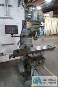 "2 HP BRIDGEPORT VERTICAL MILLING MACHINE; S/N 257454, 9"" X 42"" TABLE, 60-4,200 RPM, ANILAM WIZARD"