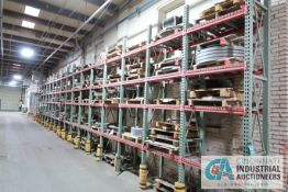 """**SECTIONS 24"""" X 42"""" X 144"""" HIGH TEAR DROP STYLE ADJSUTABLE BEAM WIRE DECKING PALLET RACK WITH ("""