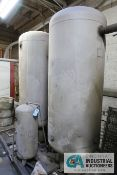 "STEEL SKID MOUNTED VERTICAL AIR RECIEVING TANKS **LOADING FEE DUE THE ""ERRA"" GRG TRUCKING, $450."