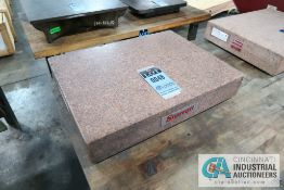 "18"" X 24"" X 4"" THICK STARRETT CRYSTAL PINK GRANITE SURFACE PLATE"