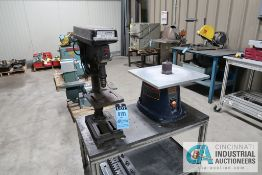 """10"""" DAYTON MODEL 4CY85 BENCH DRILL WITH 3"""" CENTRAL MACHINERY OSCILLATING BENCH SPINDLE SANDER WITH"""