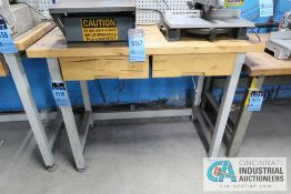 "**24"" X 48"" STEEL FRAME TWO-DRAWER MAPLE TOP WORK STATION **DELAY REMOVAL - PICKUP 11-12-2020**"
