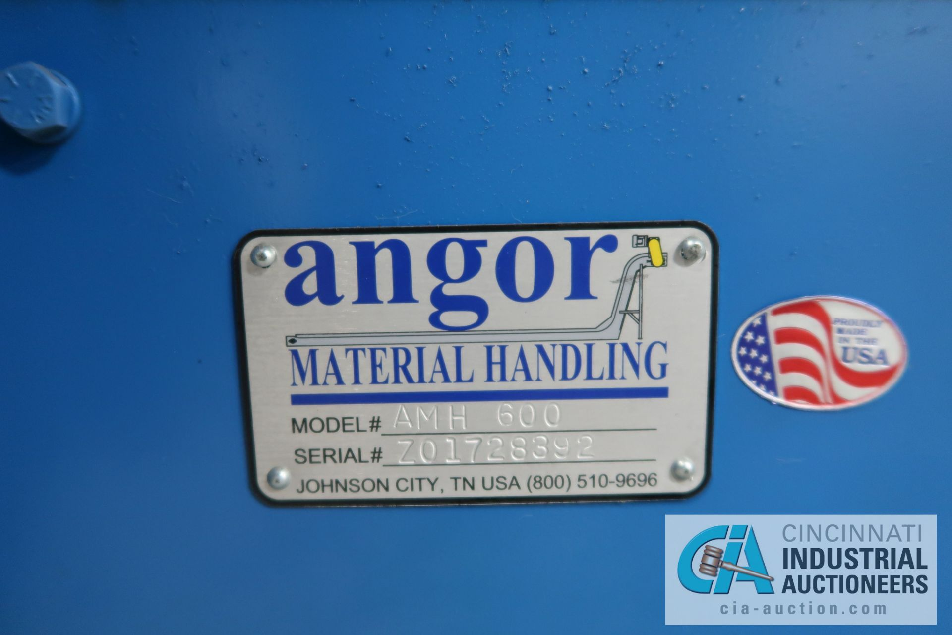 """10"""" X 78"""" ANGOR MODEL AMH600 SERIES BUCKET LOADER; S/N Z01728392, WITH PENTA-DRIVE DC MOTOR SPEED - Image 5 of 5"""