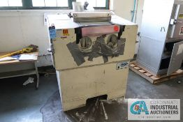 ZERO MFG CO BNP-210 BLAST-N-PEEN GLASS BEAD CABINET; S/N 28487, WITH MOUNTED DUST COLLECTOR **