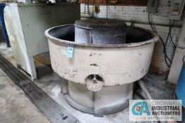 "72"" DIAMETER SEWCO MODEL EMD-241 VIBRATORY FINISHING BOWL; S/N 24FK-1070-33, WITH CONTROL CABINET"