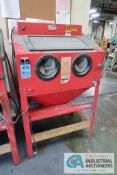 CENTRAL PNEUMATIC NO. 93608 GLASS BEAD BLASTER CABINET, ASSET # 400097 **LOADING FEE DUE THE ""