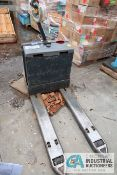 **4,500 LB. CROWN MODEL WP3035-45 24 VOLT WALK-BEHIND ELECTRIC PALLET TRUCK; S/N 7A260602 **OUT OF