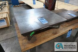 "24"" X 24"" X 6"" HIGH CAST IRON SURFACE PLATE"