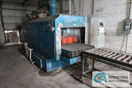 """**36"""" WIDE X 144"""" LONG NOBLES ELECTRIC FIRED 2-STAGE BELT TYPE PARTS WASHER; S/N N/A, ASSET #"""