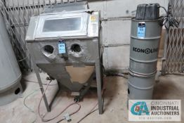 "ECONOLINE DRY BLAST CABINET; S/N N/A, WITH DUST COLLECTOR **LOADING FEE DUE THE ""ERRA"" GRG TRUCKING,"