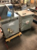 30 KVA GENERAL ELECTRIC AND 45 KVA FEDERAL PACIFIC TRANSFORMERS AND MELECTRIC-MATIC SWITCH