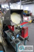 "16"" STARRETT MODEL HE400 OPTICAL COMPARATOR; S/N 8721G, WITH QUADRA-CHEK 200 DRO **LOADING FEE DUE"