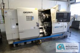 "OKUMA MODEL IMPACT LU25 CNC TURNING CENTER; S/N 0051, 26"" SWING, 12-POSITION UPPER AND 10-POSITION"
