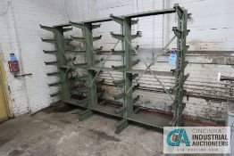"""12"""" ARM X 111"""" X 79"""" HIGH DOUBLE-SIDED CANTILEVE RACK, (28) ARMS PER SIDE, (4) UPRIGHTS"""